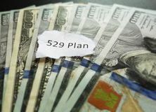 Sparplan mit 529 Colleges Lizenzfreies Stockfoto