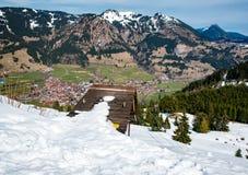 Sparren en bergen in Duitsland Stock Foto