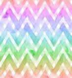Sparren von Regenbogenfarben auf weißem Hintergrund Nahtloses Muster des Aquarells für Gewebe Stockfotos
