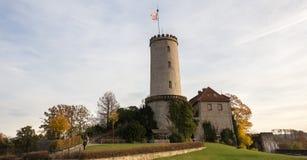 Sparrenburg slott bielefeld Tyskland arkivfoton