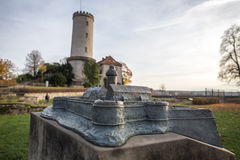 Sparrenburg slottminiatyrmodell bielefeld Tyskland Arkivfoto