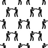 Sparring boxers icon. Element of Fight icons for mobile concept and web apps. Pattern repeat seamless sparring boxers icon can be. Used for web and mobile apps Stock Image