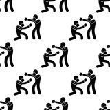 Sparring boxers icon. Element of Fight icons for mobile concept and web apps. Pattern repeat seamless sparring boxers icon can be. Used for web and mobile apps Stock Photography