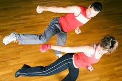Sparring das artes marciais Fotos de Stock Royalty Free