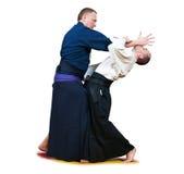 Sparring de deux chasseurs de jiu-jitsu Photos stock