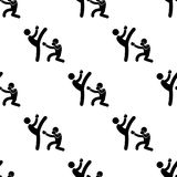 Sparring fighters icon. Element of Fight icons for mobile concept and web apps. Pattern repeat seamless sparring fighters icon can. Be used for web and mobile Royalty Free Stock Photo