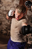 Sparring marcial misturado dos artistas Fotografia de Stock