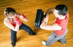 sparring martial d'arts image libre de droits