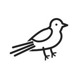 Sparrow. Cute, card icon vector image. Can also be used for thanksgiving. Suitable for mobile apps, web apps and print media Royalty Free Stock Photos