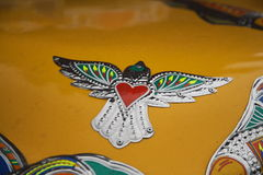 Sparrow in Pakistani Truck art Royalty Free Stock Image