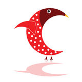 Sparrow in red color  illustration Stock Photo