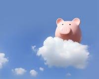 Sparschwein, das frei fliegt Stockfotos