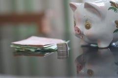 Sparschwein eine Einsparung für das Leben lizenzfreie stockbilder