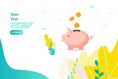 Sparschwein, Konzept des Einkommens und Rettungsgeld vektor abbildung