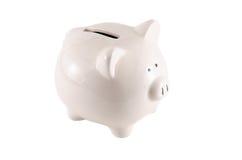 Sparschwein lokalisiert auf weißem Hintergrund lizenzfreies stockfoto