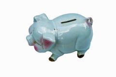 Sparschwein lokalisiert auf weißem Hintergrund mit Beschneidungspfad Lizenzfreie Stockfotografie