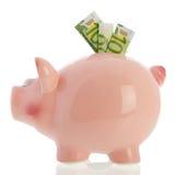 Sparschwein mit Euros Lizenzfreie Stockbilder