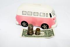 Sparschwein und Geld Lizenzfreies Stockfoto