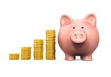 Sparschwein-und Geld-Münze stock abbildung