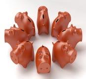Sparschweine Lizenzfreie Stockfotografie