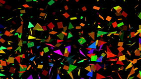 Sparse Multi Colored Abstract Mosaic Background Loop stock video