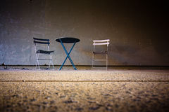 Sparse Table and Chair Scene Stock Photography
