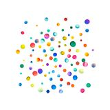 Sparse watercolor confetti on white background. Stock Images
