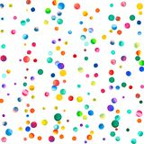 Sparse watercolor confetti on white background. Stock Photos