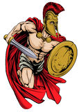 Spartańska maskotka Zdjęcia Stock