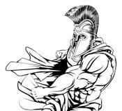 Spartański charakteru Uderzać pięścią Obrazy Stock