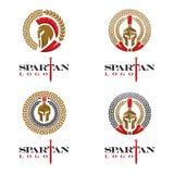 Spartański logo ilustracji