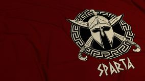 Sparta dark red background. royalty free stock photo