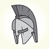 Sparta helmet isolated vector Stock Image