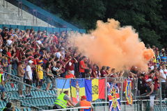 Sparta Prague hooligans Royalty Free Stock Image