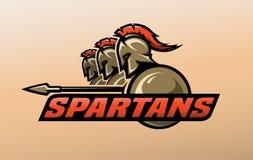 Spartańscy wojownicy Logo, symbol Zdjęcia Royalty Free