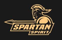 Spartański duch Symbol, logo Obrazy Stock