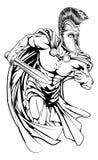 Spartaans met zwaard Royalty-vrije Stock Fotografie