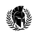 Spartaanse helm en kroon vector illustratie