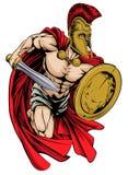 Spartaanse mascotte Stock Foto's