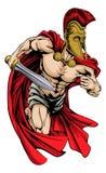 Spartaanse sportenmascotte stock illustratie