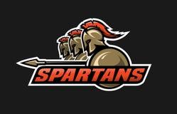 Spartaanse strijders vector illustratie