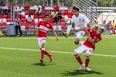 16 07 15 Spartak莫斯科青年时期2-3乌法青年时期,比赛片刻 库存照片
