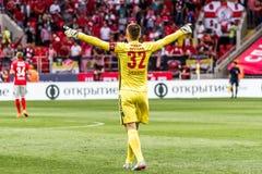 Spartak 2-2乌法17 07 15 Artyom列布罗夫 库存照片