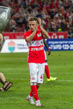 17/07/15 Spartak 2-2乌法Jano Ananidze 免版税库存图片