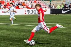 16 07 15 Spartak-de Moskou-Jeugd 2-3 de Oefa-Jeugd, spelogenblikken Stock Afbeelding