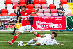 16 07 15 Spartak-de Moskou-Jeugd 2-3 de Oefa-Jeugd, spelogenblikken Stock Foto's