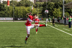16 07 15 Spartak Moskva-ungdom 2-3 Ufa-ungdom, modiga ögonblick Royaltyfria Bilder