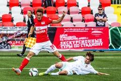 16 07 15 Spartak Moskva-ungdom 2-3 Ufa-ungdom, modiga ögonblick Arkivfoton