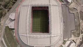 Spartak Otkritie Arena stadium close view. Moscow city Russia. Unique Aerial drone footage. Fifa 2018. Spartak Otkritie Arena stadium close view. From above stock video footage