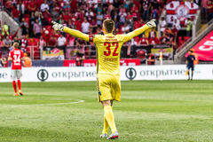 Spartak 2-2 Oufa 17 07 15 Artyom Rebrov Photo stock